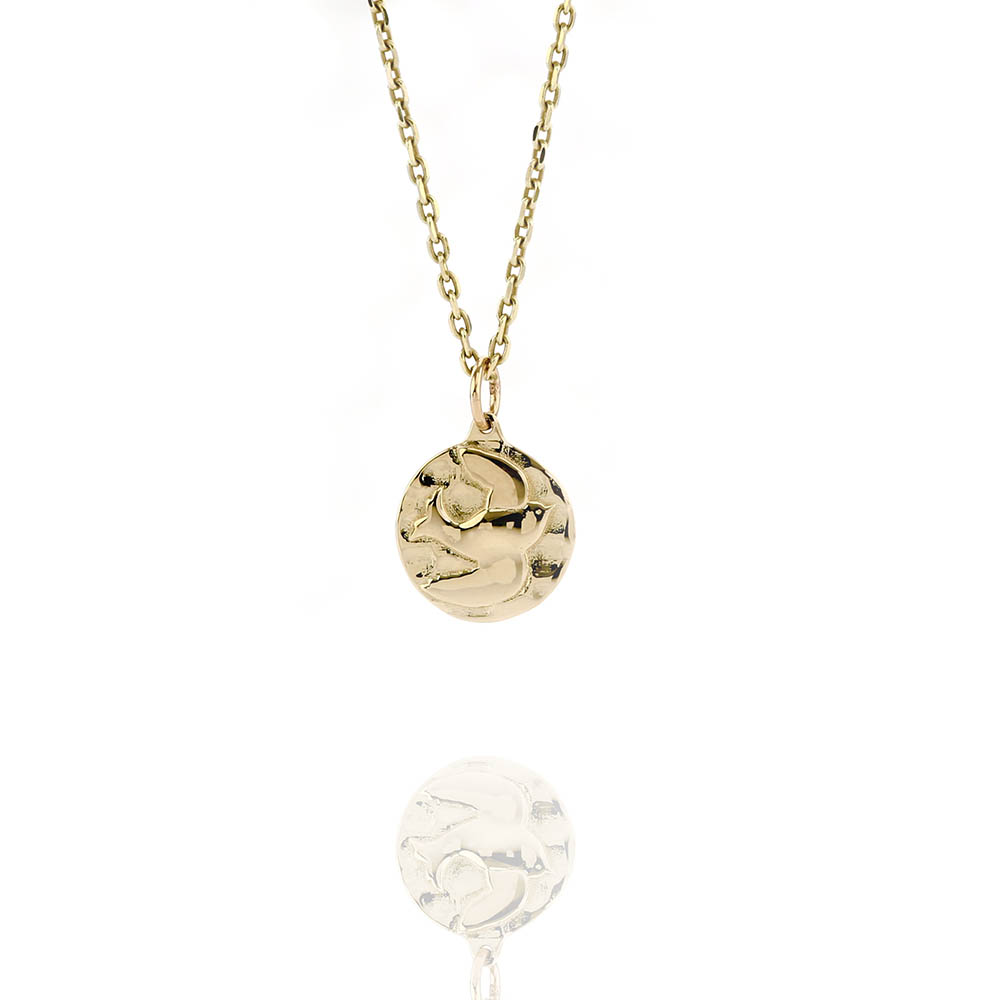 Small gold sparrow necklace jl parish high end fashion forward small gold sparrow necklace aloadofball Images